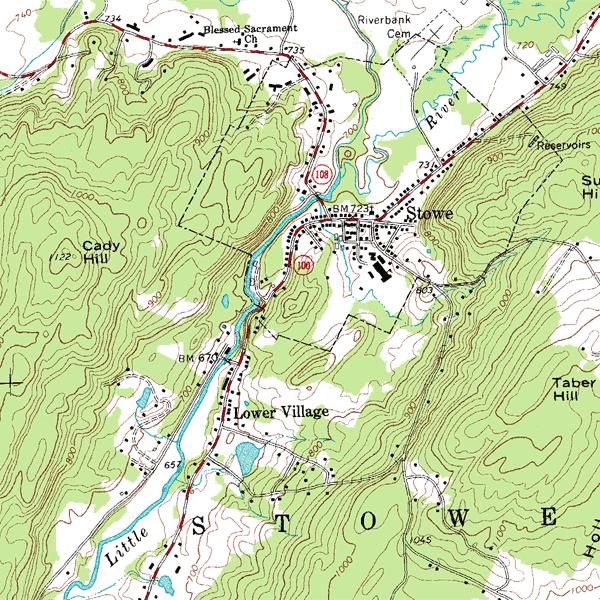 topographic map example
